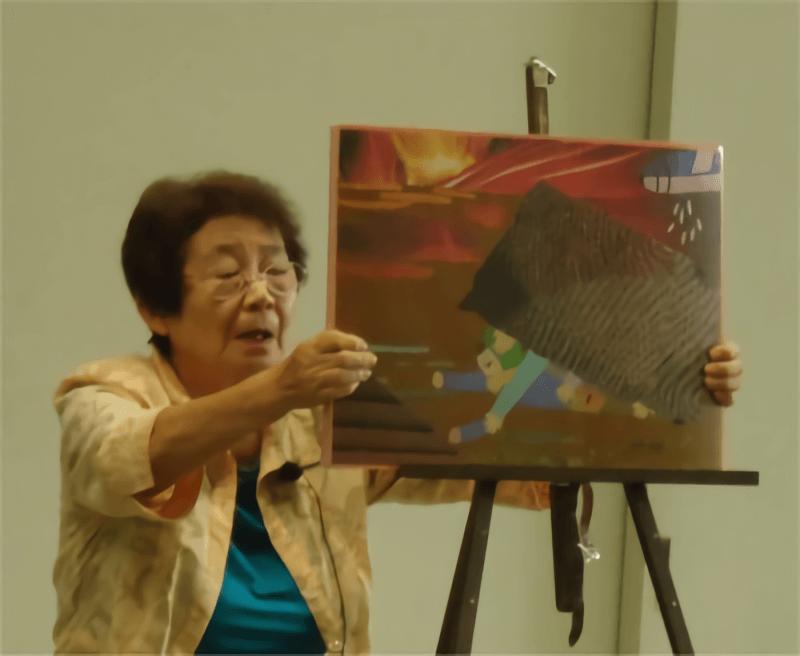 古谷さんの紙芝居「東京大空襲の体験」
